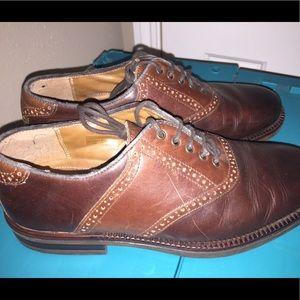 Croft & Barrel Men's Leather Saddle Shoes Size 8.5